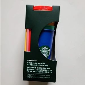 NWT (5) Starbucks Color Changing Cold Cups